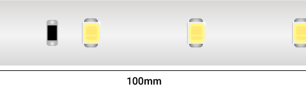Лента светодиодная LUX, 2835, 60 LED/м, 6 Вт/м, 24В, IP67, Теплый белый (2700K)