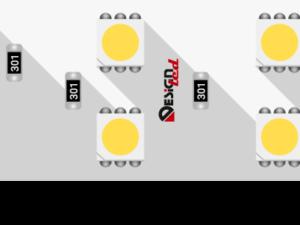 Лента светодиодная LUX, 5050, 120 LED/м, 28,8 Вт/м, 24В, IP33, Теплый белый (3000K)