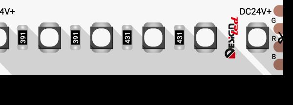 Лента светодиодная LUX, 3535, 120 LED/м, 20 Вт/м, 24В, IP33, RGB (K)