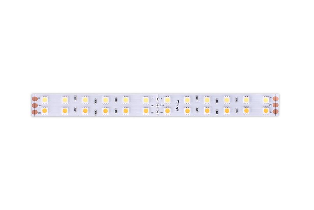 Лента светодиодная LUX, 5050, 120 LED/м, 28,8 Вт/м, 24В, IP33, RGB + теплый белый (RGB+3000K)