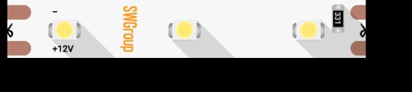 Лента светодиодная стандарт 3528, 60 LED/м, 4,8 Вт/м, 12В , IP20, Цвет: Зеленый
