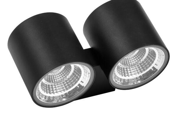 362674 Светильник PARO LED 2*2*8W 2540LM 28G ЧЕРНЫЙ 4000K IP65 (в комплекте)