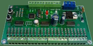 Контроллер подсветки ступеней КАП-32 плата, 24 канала, 4А, 12 Вольт