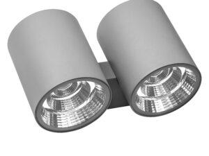372594 Светильник PARO LED 2*2*15W 4700LM 15G СЕРЫЙ 4000K IP65 (в комплекте)