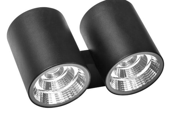 372674 Светильник PARO LED 2*2*15W 4700LM 40G ЧЕРНЫЙ 4000K IP65 (в комплекте)