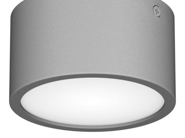 380193 Светильник ZOLLA CYL LED-RD 8W 640LM СЕРЫЙ 3000K IP65 (в комплекте)