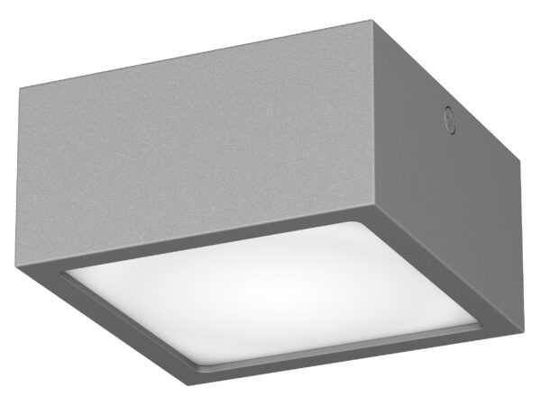 380294 Светильник ZOLLA QUAD LED-SQ 8W 640LM СЕРЫЙ 4000K IP65 (в комплекте)