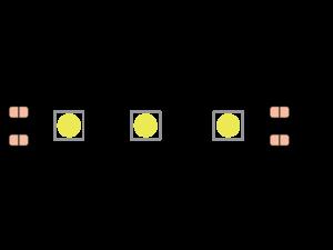 Лента светодиодная эконом 5050, 60 LED/м, 14,4 Вт/м, 12В , IP20, Цвет: Зеленый