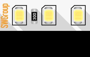 Лента светодиодная ПРО 2835, 128 LED/м, 11,5 Вт/м, 24В , IP20, Цвет: Теплый белый