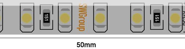 Лента светодиодная стандарт 3528, 120 LED/м, 9,6 Вт/м, 24В , IP65, Цвет: Теплый белый