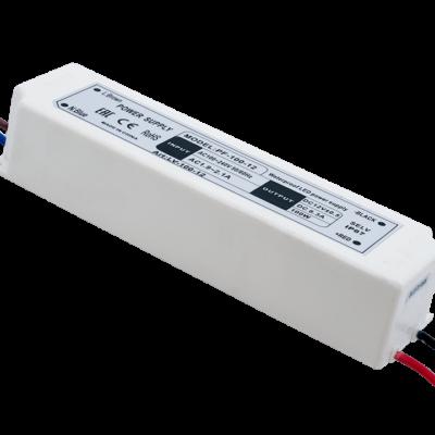 Блок Питания для ленты IP 67 пластик 100 W, 12V