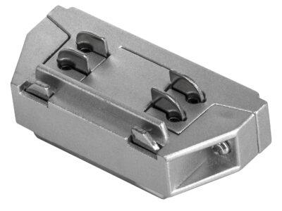 504109 Соединитель трековый трехфазный BARRA малый прямой СЕРЫЙ