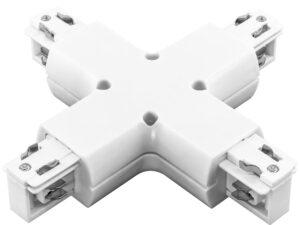 504146 Соединитель трековый трехфазный BARRA X-образный БЕЛЫЙ