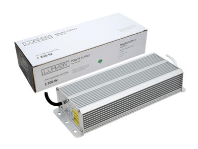 Блок питания для светодиодной ленты LUX влагозащищенный, 24В, 200Вт, IP67