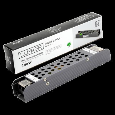 Блок питания для светодиодной ленты LUX компактный, 24В, 60Вт, IP20