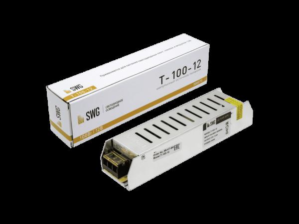 Блок питания компактный (узкий), 100 W, 12V