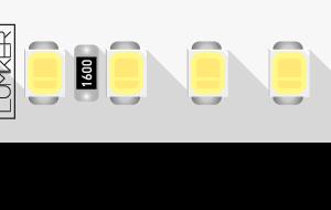 Лента светодиодная LUX, 2835, 168 LED/м, 17 Вт/м, 24В, IP33, Холодный белый (6000K)