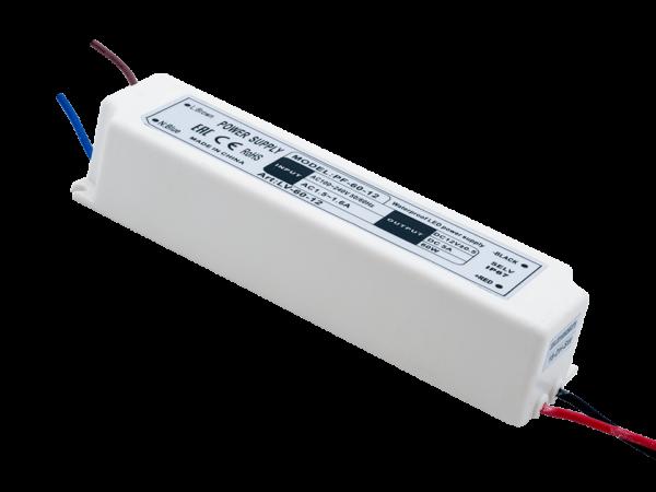Блок Питания для ленты IP 67 пластик 60 W, 12V