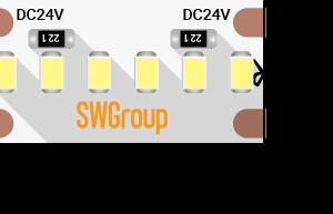 Лента светодиодная стандарт 2216, 300 LED/м, 19,4 Вт/м, 24В , IP20, Цвет: Нейтральный белый