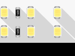 Лента светодиодная LUX, 2835, 196 LED/м, 18 Вт/м, 24В, IP33, Нейтральный белый (4000K)
