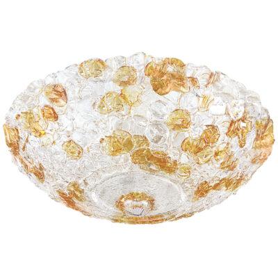 604103*** (7019/50) Люстра MURANO 10х40W E14 Amber (в комплекте)