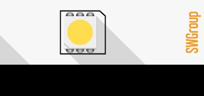 Лента светодиодная стандарт 5050, 30 LED/м, 7,2 Вт/м, 12В , IP20, Цвет: Холодный белый