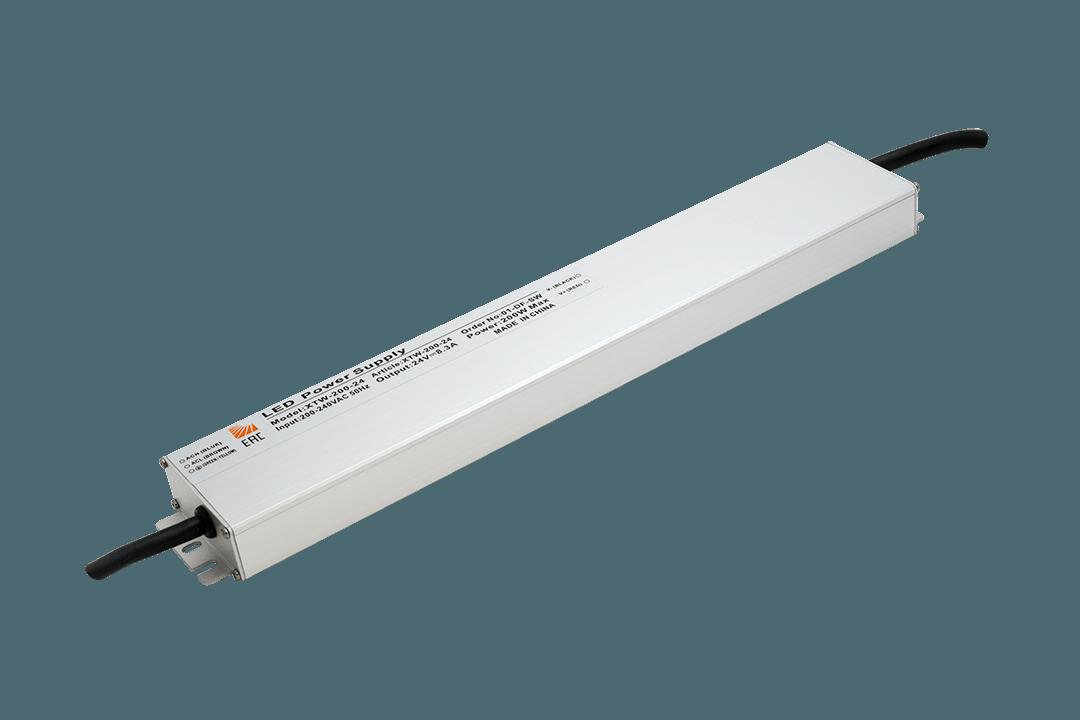 Ультратонкий блок питания в металлическом корпусе, IP67, 200W, 24V