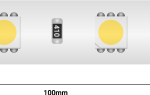 Лента светодиодная LUX, 5050, 60 LED/м, 14,4 Вт/м, 24В, IP65, Теплый белый (2700K)