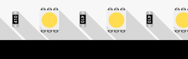 Лента светодиодная LUX, 5050, 60 LED/м, 14,4 Вт/м, 24В, IP33, Нейтральный белый (4000K)