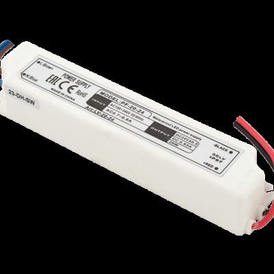 Блок Питания для ленты IP 67 пластик 20 W, 24V