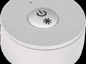 Мини радио пульт DESK-MINI-SL на 1 зону с возможностью диммирования. Серебро