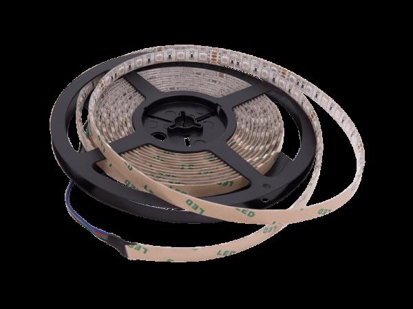 Лента светодиодная стандарт однорядная 5050, 60 LED/м, 14,4 Вт/м, 24В, IP65, Цвет: RGB