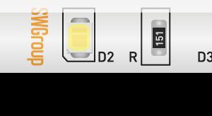 Лента светодиодная стандарт 2835, 60 LED/м, 4,8 Вт/м, 12В , IP65, Цвет: Холодный белый