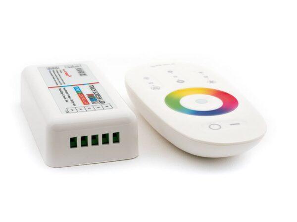 Контролер для ленты RGBW, 24A, 12/24 Вольт, RF-RGBW-S-24A