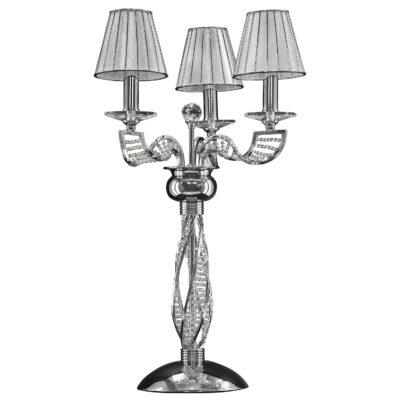 702934 (MT200002-3) Настольная лампа ALVEARE 3х40W E14  ХРОМ (в комплекте)