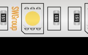 Лента светодиодная стандарт 5050, 60 LED/м, 14,4 Вт/м, 12В , IP68, Цвет: Теплый белый