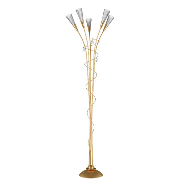 711753*** (SL1105/5)  Торшер AEREO 5х25W G9 gold foil (в комплекте)