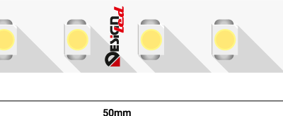 Лента светодиодная LUX, 3528, 120 LED/м, 9,6 Вт/м, 24В, IP33, Холодный белый (6000K)
