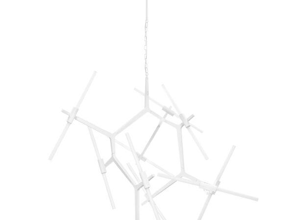 742206 (1373/20) Люстра STRUTTURA 20х40W G9 БЕЛЫЙ МАТОВЫЙ (в комплекте)