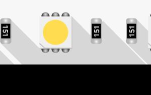 Лента светодиодная LUX, 5050, 60 LED/м, 14,4 Вт/м, 12В, IP33, Нейтральный белый (4000K)