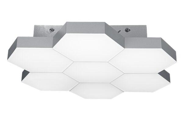 750074 (MX13003032-7А) Люстра потол FAVO LED-35W 1680LM Silver 4000K (в комплекте)