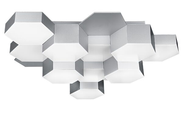 750124 (MX13003032-12А) Люстра потол FAVO LED-60W 2880LM Silver 4000K (в комплекте)