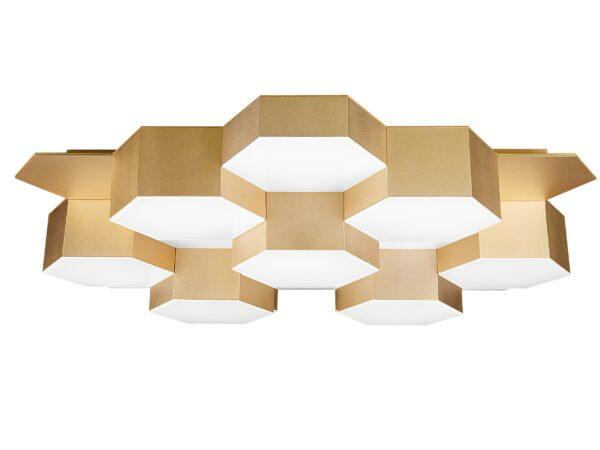750161 (MX13003032-16А) Люстра потол FAVO LED-80W 3840LM Satin Gold 3000K (в комплекте)