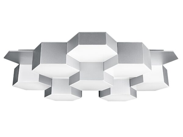 750162 (MX13003032-16А) Люстра потол FAVO LED-80W 3840LM Silver 3000K (в комплекте)