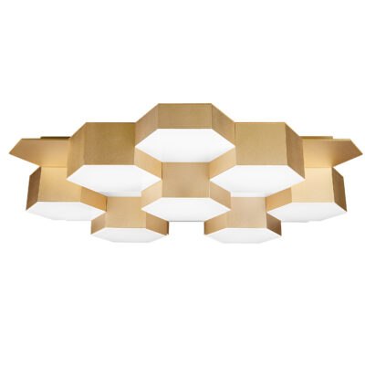 750163 (MX13003032-16А) Люстра потол FAVO LED-80W 3840LM Satin Gold 4000K (в комплекте)