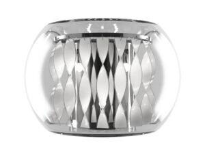 752634 (MB7602-3А) Бра ACQUARIO 3х20W G4 12V ХРОМ БЕЛ стекло (в комплекте)