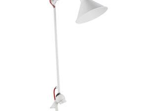 765926 (MТ1201802-1Е) Настольная лампа  LOFT 1х40W E14 БЕЛЫЙ (в комплекте)