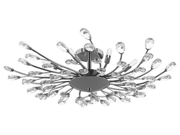 791184 (9158/8A) Люстра потолочная ISABELLE 8х40W G9 ХРОМ (в комплекте)