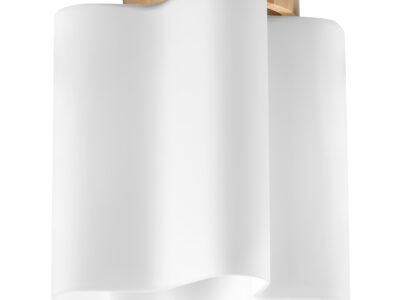 802015 (MC998-1) Светильник  NUBI LEGNO 1х40W E27 СВЕТЛОЕ ДЕРЕВО/БЕЛЫЙ (в комплекте)
