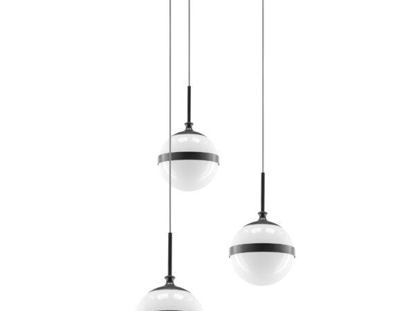 813137 (MD1803A-3BL) Люстра GLOBO 3х40W E14 black/white (в комплекте)